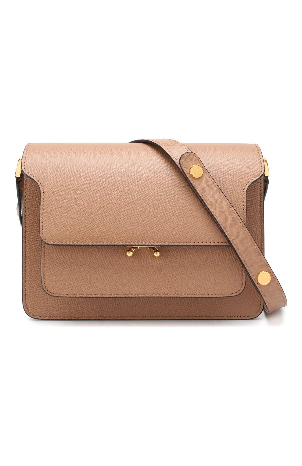 Женская сумка trunk MARNI светло-коричневого цвета, арт. SBMPN09N01/LV520 | Фото 6