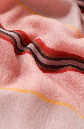 Женская шаль aylit из смеси кашемира и шелка LORO PIANA розового цвета, арт. FAI4997 | Фото 2