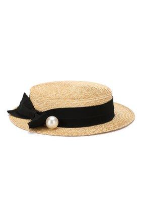 Соломенная шляпа канотье | Фото №1