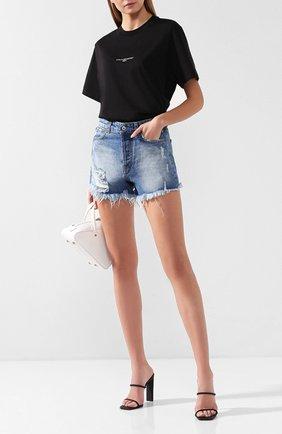 Женские джинсовые шорты FORTE DEI MARMI COUTURE синего цвета, арт. FDMC SS19 6326 | Фото 2