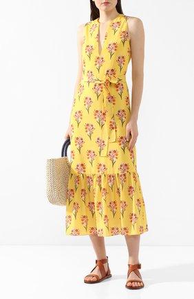Женское платье с принтом BORGO DE NOR желтого цвета, арт. FL0RENCE/B0UQUET   Фото 2