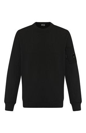 Хлопковый свитшот C.P. Company черный | Фото №1