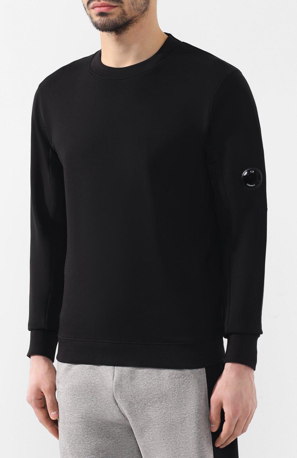 Хлопковый свитшот C.P. Company черный | Фото №3