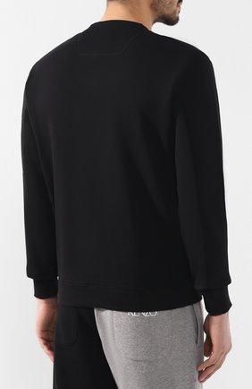 Хлопковый свитшот C.P. Company черный | Фото №4