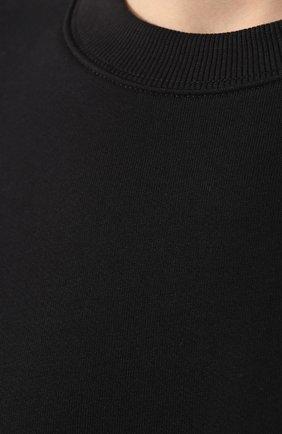 Хлопковый свитшот C.P. Company черный | Фото №5