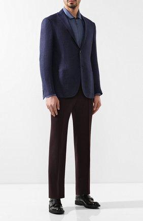 Мужская рубашка из вискозы GIORGIO ARMANI синего цвета, арт. 8WGCCZ5H/TZ222 | Фото 2