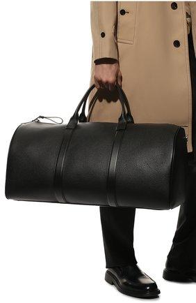 Мужская кожаная дорожная сумка  TOM FORD черного цвета, арт. H0361P-CP5 | Фото 2