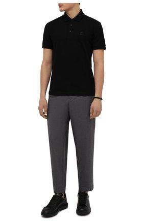 Мужские кожаные кеды ALEXANDER MCQUEEN черного цвета, арт. 553761/WHGP0 | Фото 2