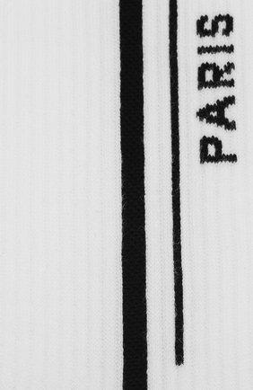 Мужские хлопковые носки GIVENCHY черно-белого цвета, арт. BMB00P4037 | Фото 2