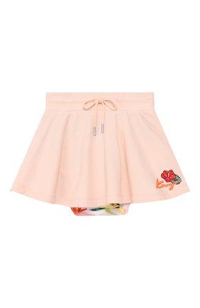 Детская комплект из юбки и трусов KENZO светло-розового цвета, арт. KN27007/2A | Фото 1