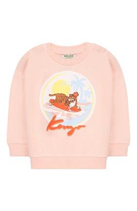 Детский хлопковый свитшот KENZO светло-розового цвета, арт. KN15007/2A | Фото 1