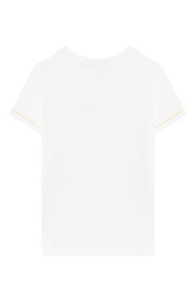 Детский хлопковая футболка TARTINE ET CHOCOLAT белого цвета, арт. TN10101/4A-6A | Фото 2