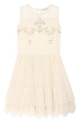 Платье с кружевной отделкой   Фото №1