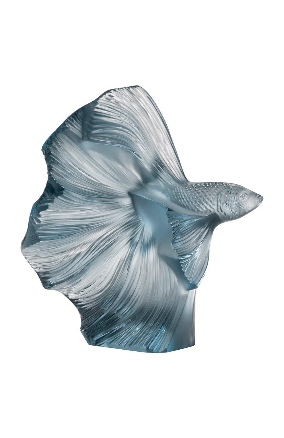 Мужского скульптура poissons combattants LALIQUE темно-синего цвета, арт. 10672500 | Фото 1