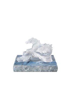 Мужского скульптура poseidon's horse LALIQUE серого цвета, арт. 10672900 | Фото 1