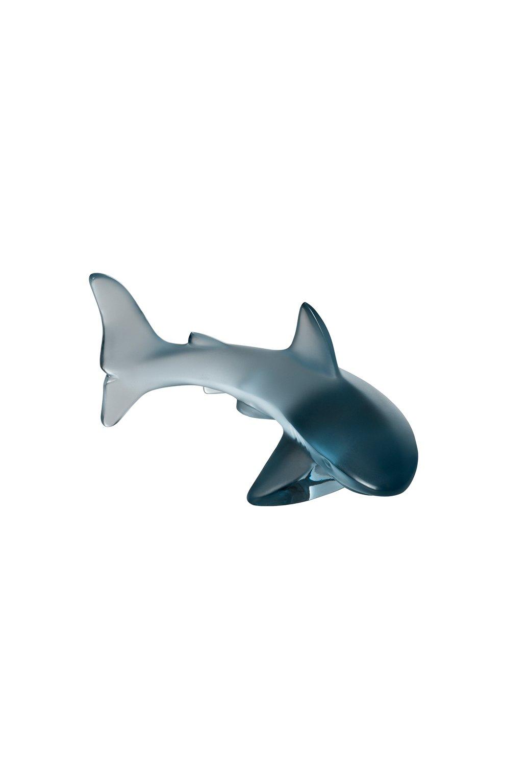 Мужского скульптура shark small LALIQUE синего цвета, арт. 10673100 | Фото 1