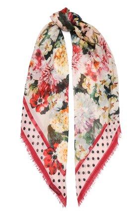 Женский платок из смеси кашемира и шелка DOLCE & GABBANA разноцветного цвета, арт. FS209A/GDM16 | Фото 1