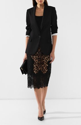 Женская юбка с принтом DOLCE & GABBANA коричневого цвета, арт. F4BHCT/FSAXY | Фото 2