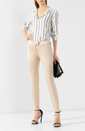 Женские брюки из смеси хлопка и вискозы TOM FORD бежевого цвета, арт. PAW204-FAX469 | Фото 2