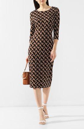 Шелковое платье с принтом Diane Von Furstenberg разноцветное | Фото №2