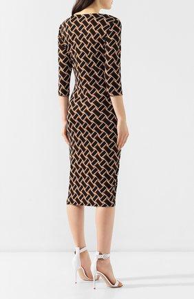 Шелковое платье с принтом Diane Von Furstenberg разноцветное | Фото №4