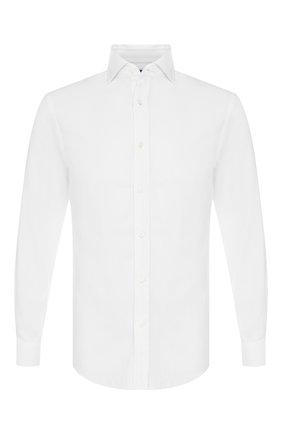 Мужская хлопковая сорочка с воротником кент RALPH LAUREN белого цвета, арт. 790708717 | Фото 1