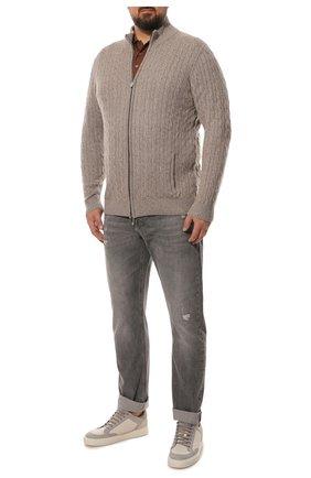 Мужские джинсы прямого кроя BRUNELLO CUCINELLI серого цвета, арт. MH203B2370 | Фото 2