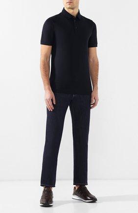 Мужские джинсы прямого кроя GIORGIO ARMANI синего цвета, арт. 3GSJ50/SD94Z | Фото 2