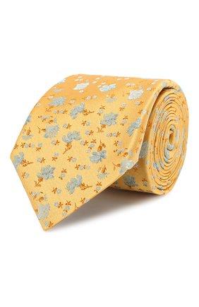 Мужской шелковый галстук CANALI желтого цвета, арт. 18/HJ02054 | Фото 1
