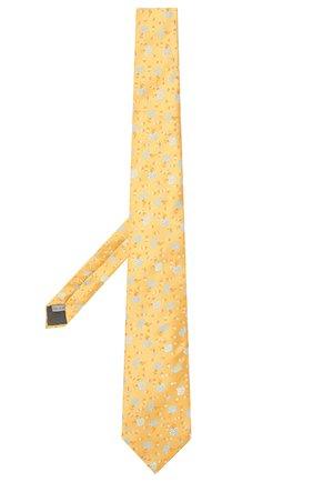 Мужской шелковый галстук CANALI желтого цвета, арт. 18/HJ02054 | Фото 2