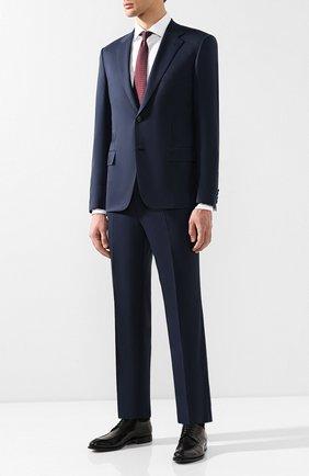 Мужской шерстяной костюм BRIONI темно-синего цвета, арт. RAI30T/P4AHW/PARLAMENT0 | Фото 1