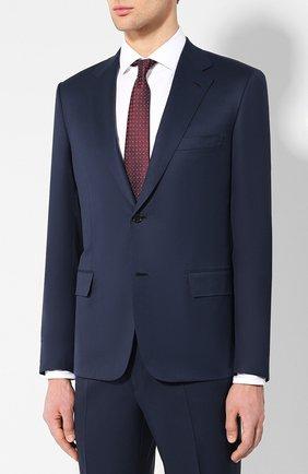 Мужской шерстяной костюм BRIONI темно-синего цвета, арт. RAI30T/P4AHW/PARLAMENT0 | Фото 2