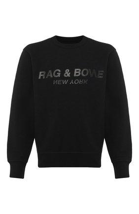 Мужской хлопковый свитшот RAG&BONE черного цвета, арт. M286T85U3 | Фото 1
