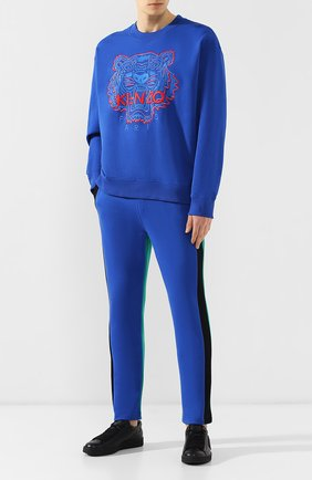 Мужской хлопковый свитшот KENZO синего цвета, арт. 5SW5574XE | Фото 2