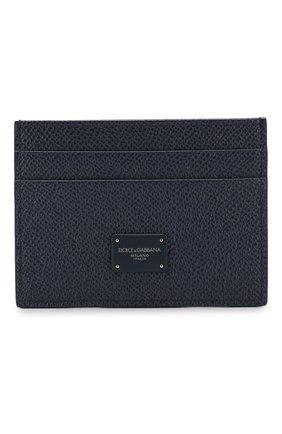 Мужской кожаный футляр для кредитных карт DOLCE & GABBANA синего цвета, арт. BP0330/AZ602 | Фото 1