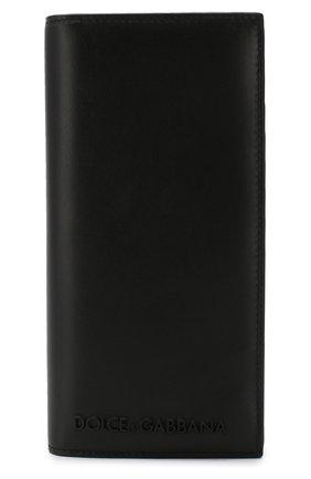 Мужская кожаный футляр для документов DOLCE & GABBANA черного цвета, арт. BP1670/AZ106 | Фото 1