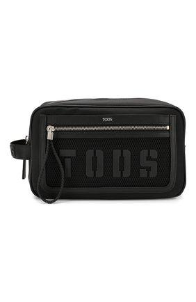 Мужской текстильный несессер TOD'S черного цвета, арт. XDMTECD1100JTZ | Фото 1