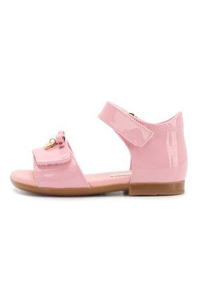 Детские кожаные босоножки DOLCE & GABBANA светло-розового цвета, арт. D20045/A1328 | Фото 2
