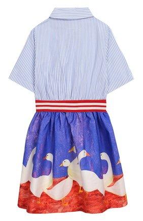 Детское хлопковое платье STELLA JEAN KIDS разноцветного цвета, арт. J/JF/AB28/0361/8A-14A   Фото 2