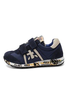 Детские кроссовки из кожи и текстиля PREMIATA WILL BE синего цвета, арт. LUCY V/0044/T0D   Фото 2