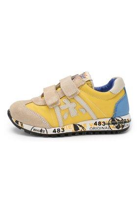 Детские кроссовки из кожи и текстиля PREMIATA WILL BE желтого цвета, арт. LUCY V/0765/CHILD   Фото 2