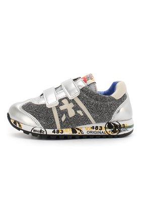 Детские кроссовки из кожи и текстиля PREMIATA WILL BE серебряного цвета, арт. LUCY V/1155/JUN | Фото 2