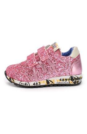 Детские кроссовки с застежками велькро PREMIATA WILL BE розового цвета, арт. LUCY V/1219/T0D | Фото 2
