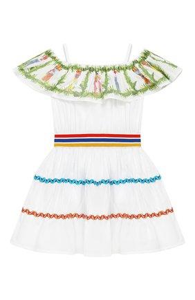 Хлопковое платье на бретельках | Фото №1