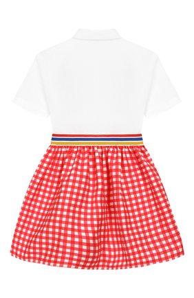 Детское хлопковое платье STELLA JEAN KIDS красного цвета, арт. J/JF/AB30/0353/8A-14A   Фото 2