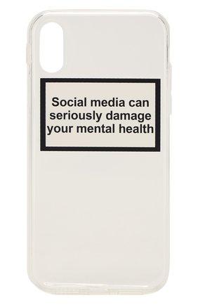 Мужской чехол для iphone xr MISHRABOO прозрачного цвета, арт. Social media Xr   Фото 1
