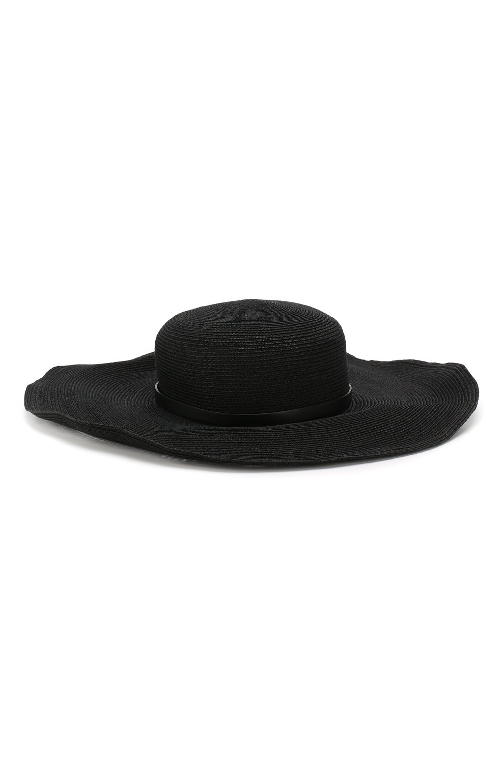 Шляпа с декоративным ремешком Inverni черного цвета   Фото №2