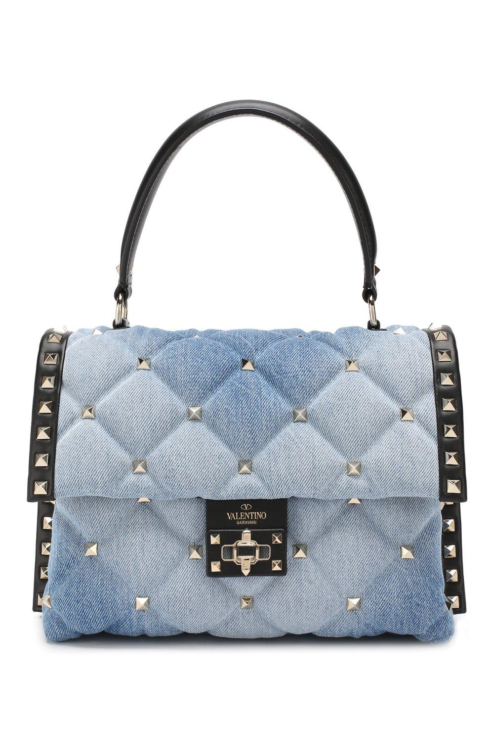Сумка Valentino Garavani Candystud Valentino синяя цвета | Фото №1
