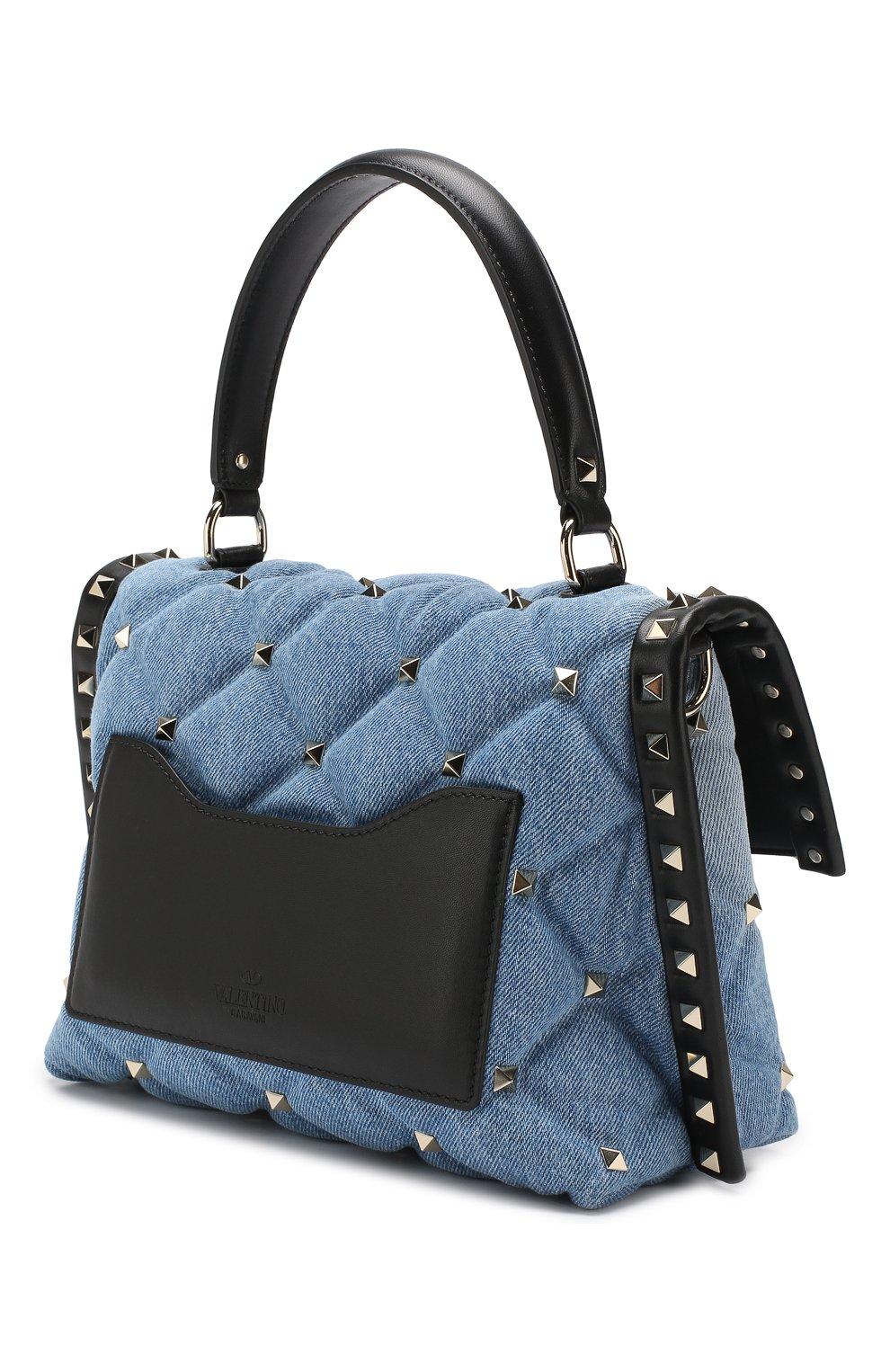 Сумка Valentino Garavani Candystud Valentino синяя цвета | Фото №3