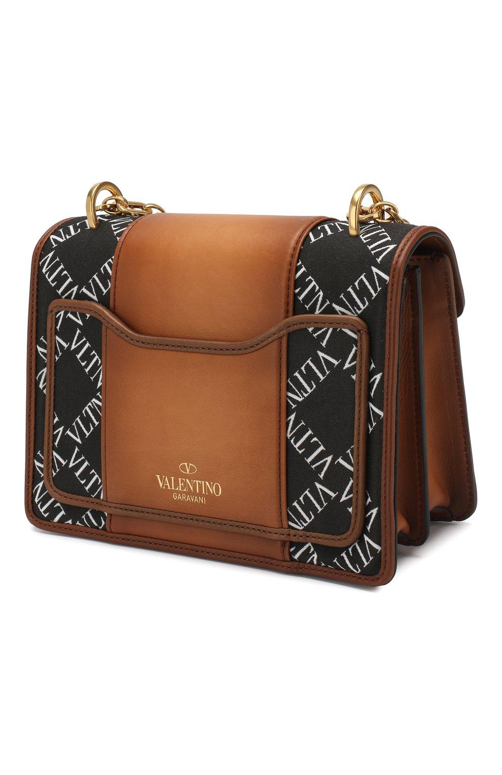 Сумка Valentino Garavani Uptown small Valentino коричневая цвета | Фото №3